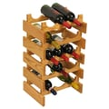 Wooden Mallet Dakota 15 Bottle Wine Rack; Light Oak