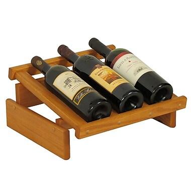 Wooden Mallet Dakota 3 Bottle Tabletop Wine Rack; Medium Oak