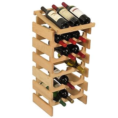 Wooden Mallet Dakota 18 Bottle Floor Wine Rack; Unfinished