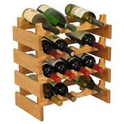 Wooden Mallet Dakota 16 Bottle Floor Wine Rack; Light Oak