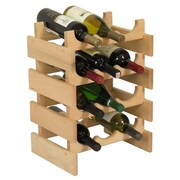 Wooden Mallet Dakota 12 Bottle Wine Rack; Unfinished