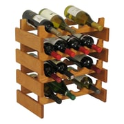 Wooden Mallet Dakota 16 Bottle Wine Rack; Medium Oak
