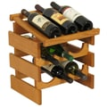 Wooden Mallet Dakota 9 Bottle Wine Rack; Medium Oak