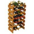 Wooden Mallet Dakota 28 Bottle Wine Rack; Medium Oak