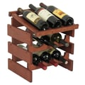 Wooden Mallet Dakota 9 Bottle Wine Rack; Mahogany
