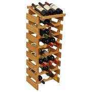 Wooden Mallet Dakota 24 Bottle Wine Rack; Light Oak