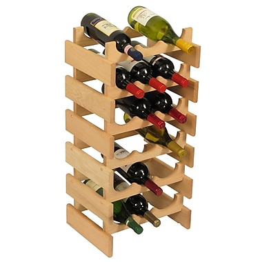 Wooden Mallet Dakota 18 Bottle Floor Wine Rack; Unfinished