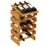 Wooden Mallet Dakota 15 Bottle Wine Rack; Light Oak