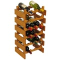 Wooden Mallet Dakota 18 Bottle Wine Rack; Medium Oak