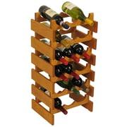 Wooden Mallet Dakota 18 Bottle Wine Rack; Medium Oak