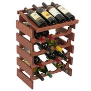 Wooden Mallet Dakota 20 Bottle Wine Rack; Mahogany