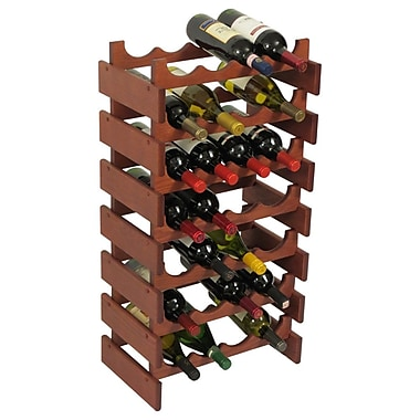 Wooden Mallet Dakota 28 Bottle Floor Wine Rack; Mahogany