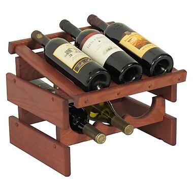 Wooden Mallet Dakota 6 Bottle Tabletop Wine Rack; Mahogany