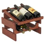 Wooden Mallet Dakota 6 Bottle Wine Rack; Mahogany