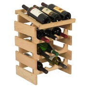 Wooden Mallet Dakota 12 Bottle Floor Wine Rack; Unfinished