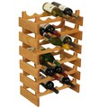 Wooden Mallet Dakota 24 Bottle Wine Rack; Light Oak