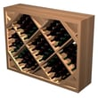Wine Cellar Designer Series 132 Bottle Wine Rack; Unstained Premium Redwood