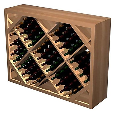 Wine Cellar Designer Series 132 Bottle Floor Wine Rack; Dark Stained Premium Redwood