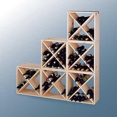 Wine Cellar Country Pine Cube 24 Bottle Floor Wine Rack