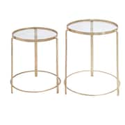 Woodland Imports 2 Piece Nesting Tables