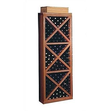 Wine Cellar Designer Series 132 Bottle Floor Wine Rack; Unstained Premium Redwood