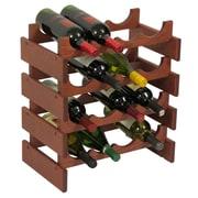 Wooden Mallet Dakota 16 Bottle Wine Rack; Mahogany