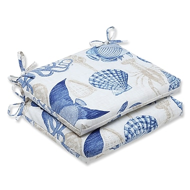 Pillow Perfect Sealife Outdoor Seat Cushion (Set of 2); Marine