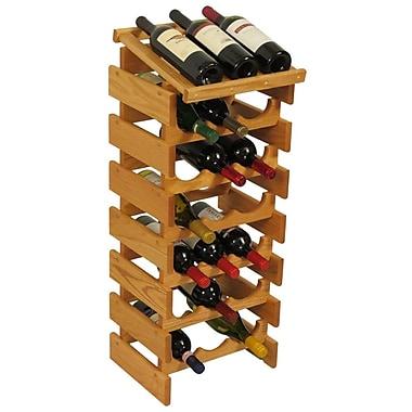 Wooden Mallet Dakota 21 Bottle Floor Wine Rack; Light Oak