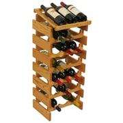 Wooden Mallet Dakota 21 Bottle Wine Rack; Light Oak
