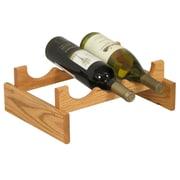 Wooden Mallet Dakota 3 Bottle Wine Rack; Light Oak