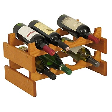 Wooden Mallet Dakota 8 Bottle Tabletop Wine Rack; Medium Oak