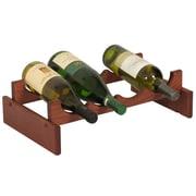 Wooden Mallet Dakota 4 Bottle Wine Rack; Mahogany