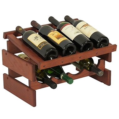 Wooden Mallet Dakota 8 Bottle Tabletop Wine Rack; Mahogany