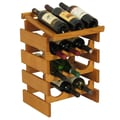Wooden Mallet Dakota 12 Bottle Wine Rack; Medium Oak