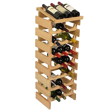 Wooden Mallet Dakota 24 Bottle Floor Wine Rack; Unfinished