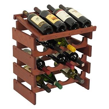 Wooden Mallet Dakota 16 Bottle Tabletop Wine Rack; Mahogany