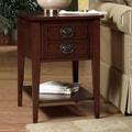 Wildon Home   American Federal End Table; Dark Brown Cherry