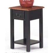 Wildon Home   End Table; Brown Cherry / Black