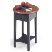 Wildon Home   End Table; Brown Cherry / Black