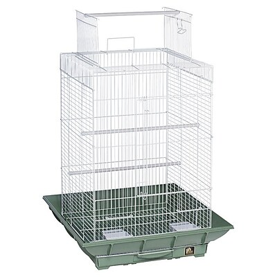 Prevue Hendryx Clean Life PlayTop Bird Cage; Green / White WYF078276461258