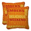 Pillow Perfect Grillin Throw Pillow (Set of 2); Flame