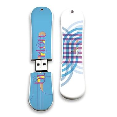 EP Memory Burton SnowDrive Feather 11 SnowDrive BURT-FEA11/16G USB 2.0 Flash Drive, Multicolor