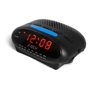MZ Berger ETC580A Digital LED AM/FM Clock Radio, Black