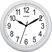 MZB SPC958 Sharp 10 Quartz Analog Wall Clock, White