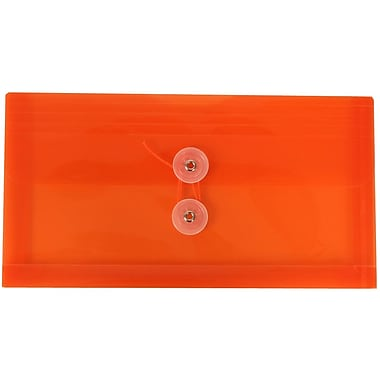 JAM Paper Plastic Business Envelopes 5.25