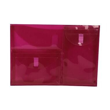 JAM PaperMD – Enveloppes livret en plastique à 3 pochettes, 9 3/4 x 13 po, paquet/10