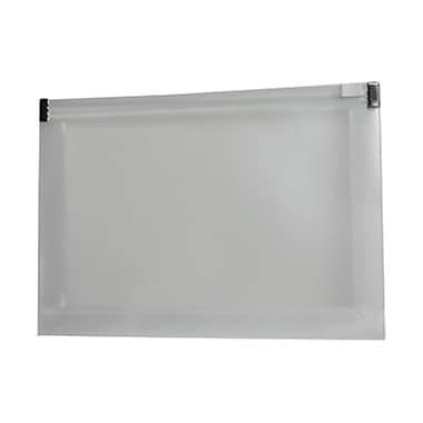 JAM Paper® Plastic Envelopes with Zip Closure, Booklet, 5.25 x 8, Clear Poly, 12/Pack (920Z1CL)