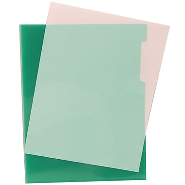 JAM Paper® Plastic Sleeves, 9 x 11.5, Green, 600/Pack (226325846C)