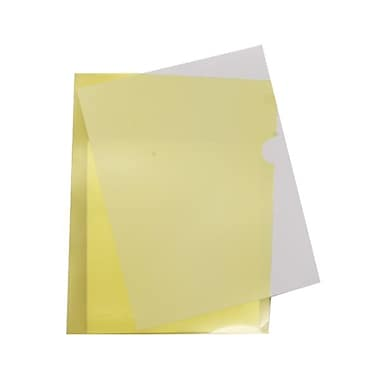 JAM Paper® Plastic Sleeves, 9 x 11.5, Yellow, 120/Pack (2226316991B)