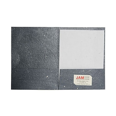 JAM Paper® Handmade Recycled Folders, Metallic Blue, 100/Pack (05964493b)